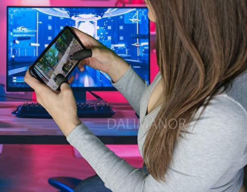 Precision Daumenhülsen für Gaming, Gaming-Controller für PUBG Mobile (6er-Pack), Fortnite, COD, Roblox, und Minecraft. Kompatibel mit iPhone, iOS, Android und iPad. Anti Sweat Mobile Fingerhüllen