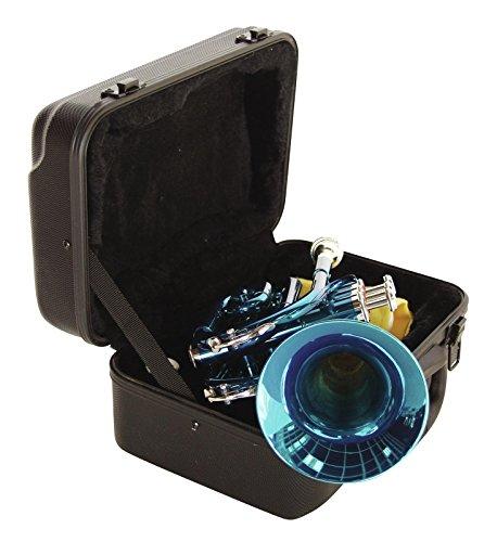Dimavery TP-300 - Tromba tascabile in Si bemolle, Blu