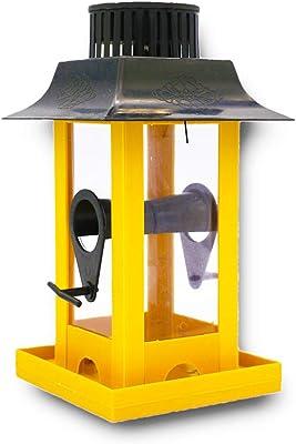 Skymoo Parrot Crow Feeder Yard Decor Parrot Feeder Solar LED Light Hanging Bird Feeder Outdoor Balcony Bird Feeding Station