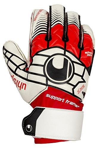 uhlsport Kinder Handschuhe ELIMINATOR SOFT SF Plus, weiß/Rot/Schwarz, 7.5