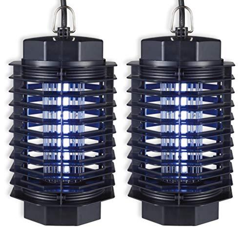 ISOTRONIC Elektrischer Fliegenfänger Fluginsekten-Vernichter gegen Motten Fliegen Mücken UV-Licht (2, Stück)