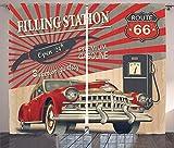 zpangg Autos Vorhänge Poster-Stil Bild Tankstelle