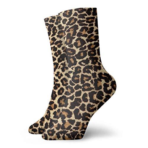 Socken für Herren und Damen, Leoparden-Design, leicht, kühl, bequem, geeignet für alle Aktivitäten bei jedem Wetter