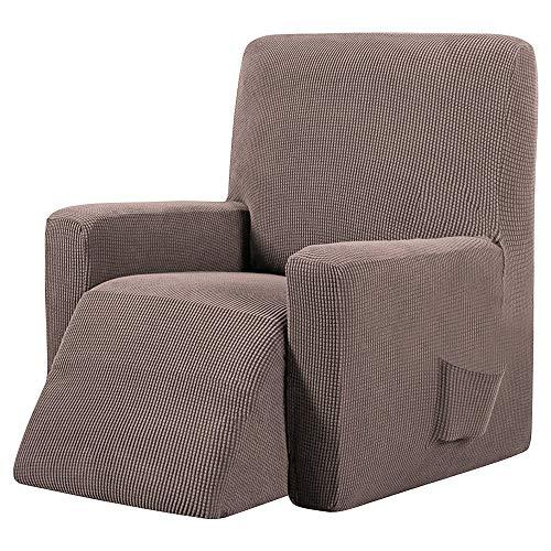 ChicSoleil Sesselschoner Sesselüberwurf Sesselhusse Sesselbezug Jacquard Elastisch Stretch Husse für Relaxsessel Fernsehsessel Liege Sessel