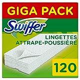 Swiffer Recharges Lingettes Sèches pour Balai Attrape-Poussière, 120 Lingettes