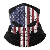 American Flag Punisher Skull Face Mask Bandanas For Dust, Outdoors, Festivals, Sports
