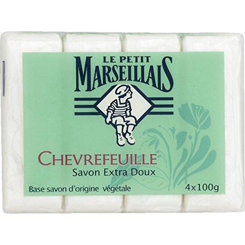 Le Petit Marseillais - Chèvrefeuille, Savon Extra Doux - Les 4 savons de 100g - (pour la quantité Plus Que 1 Nous Vous remboursons Le Port supplémenta