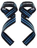 Fitgriff® Straps Palestra (Imbottito) - Professionali Cinghie Sollevamento Pesi - Crossfit, Gym, Bodybuilding, Powerlifting - Donna & Uomo - Black/Blue