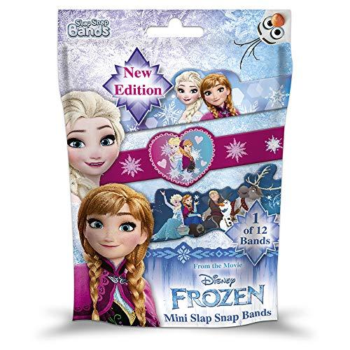 CRAZE Schnapparmband Slap SNAP Bands Frozen Armband Armreif Kinderschmuck für Mädchen Die Eiskönigin 52199, Buntes Klatscharmband