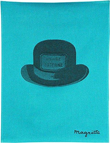 Moutet Torchon Küchenhandtuch Geschirrtuch Handtuch, hochwertige Baumwolle in Frankreich gewebt, limitiertes Motiv René Magritte Edition Le bouchon d'épouvante, Chapeau, Hut
