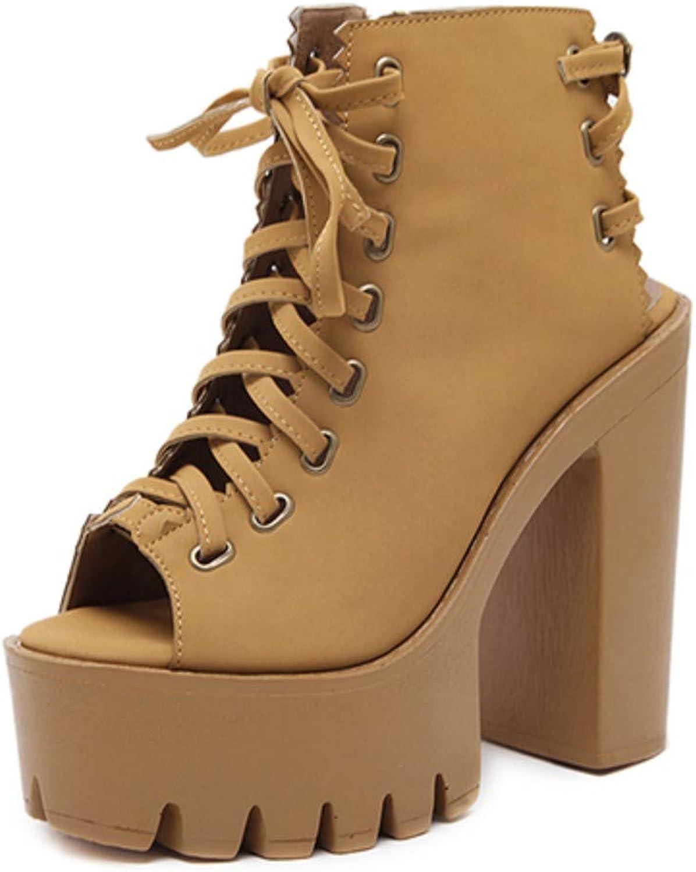 JQfashion Autumn Peep Toe Women Pumps Cross Tied Rubber Sole High Heel Ladies shoes Slingbacks Dress Office Platform shoes Woman