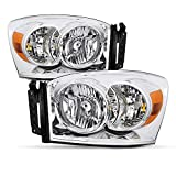Best Headlights - Headlight Assembly Set Replacement for 2006-2008 Dodge Ram Review