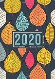 Agenda settimanale 2020: 1 gennaio 2020 al 31 dicembre 2020: Agenda settimanale e mensile, Organizer & Diario: Foglie rosa arancione e blu 144-9