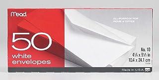 """Mead 50 Pack, 4-1/8"""" x 9-1/2"""" #10 White Envelopes (2-Pack)"""