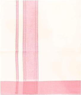 MCR Men's Pure Cotton Double Dhoti(114_White With Colour Border_4m)