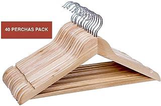 Perchas de Madera - Perchas de madera para traje (40