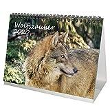 Wolfszauber DIN A5 Kalender/Tischkalender 2020 Wolf und Wölfe Geschenk-Set: Zusätzlich 1 Gruß- und 1 Weihnachtskarte - Seelenzauber