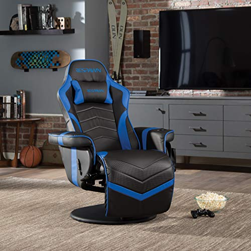 """RESPAWN RSP-900 Racing Style, Reclining Gaming Chair, 35.04"""" - 51.18"""" D x 30.71"""" W x 37.01"""" - 44.88"""" H, Blue"""