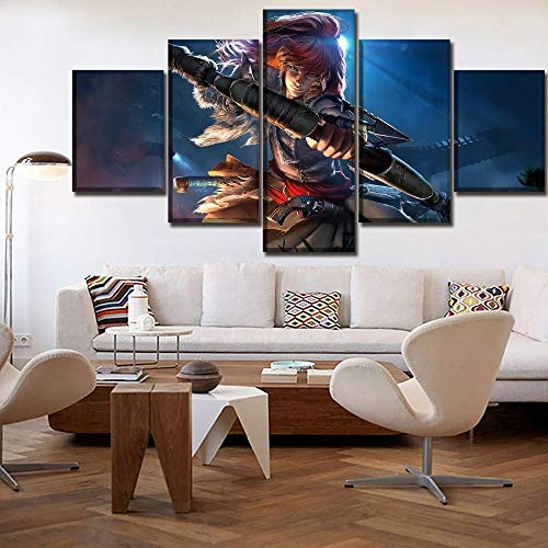 GFHFG 5 Murales para 150X80Cm 5 Combinables Decorativas Horizonte Cero Cuadros Modernos Salón Prints Wall Art Modular Poster Mural Decorativo