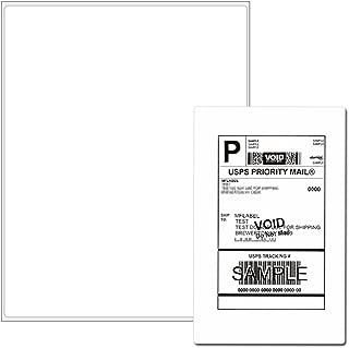 Full Sheet Address Shipping Labels - 8-1/2