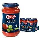 Barilla Pasta Sauce, Basilico, Tomato and Basil Pasta Sauce, Vegan, Authentic Italian Taste, Bulk Pack of 6 x 400g