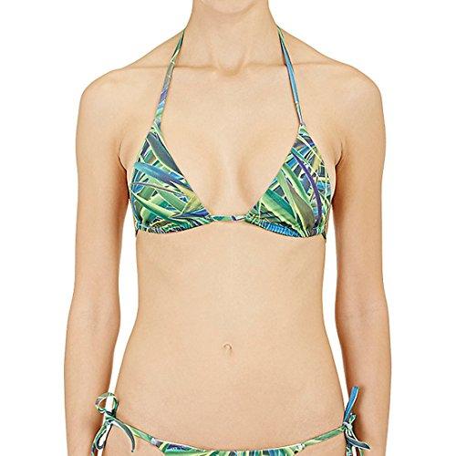 Onia Women's Megan Adjustable String Bikini Top WTS09 Sz L Green Yucca Leaf