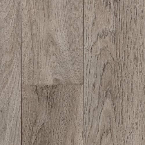 BODENMEISTER BM70522 Vinylboden PVC Bodenbelag Meterware 200, 300, 400 cm breit, Holzoptik Diele Eiche hell creme grau
