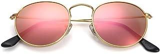 Small Round Vintage Mirror Lenses UV Protection Unisex...