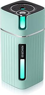 2021年最新版 YIHOPE 加湿器 卓上 超音波式 超静音 USB加湿器 アロマ対応 次亜塩素酸水対応 空焚き防止 濡れ防止 車用 小型 加湿機 オフィス 寝室 七色ライト 大容量 日本語説明書付き 浅緑