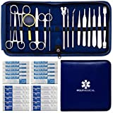 Advanced Dissection Kit - 37 Pieces Total. High Grade Stainless Steel Instruments Perfect for Anatomy, Biology, Botany, Veterinary and Medical Students - by Poly Medical. (Black)…