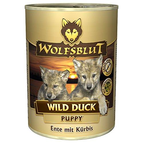 Wolfsblut | Wild Duck Puppy | 6 x 395 g | Ente | Nassfutter | Hundefutter | Getreidefrei