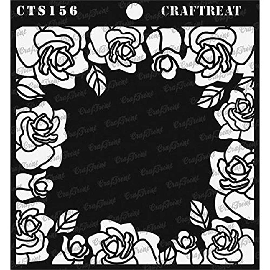 CrafTreat Stencil - Roses All Around | Reusable Painting Template for Journal, Notebook, Home Decor, Crafting, DIY Albums, Scrapbook and Printing on Paper, Floor, Wall, Tile, Fabric, Wood 6