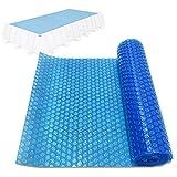 EEUK Cobertor Piscina Rectangular, Cobertor Solar para Piscinas Estructura Metálica, Lona para Piscina de Impermeable Funda para Piscina