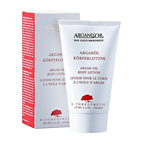 ARGAND'OR vegane Arganöl Körperlotion - Pflegend - Feuchtigkeitsspendend - Für normale, trockene und empfindliche Haut - Für gestresste Haut - 150ml