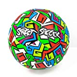 Soccer Innovations Graffiti Style Waterproof FIFA Approved Street Ball, Size 5