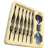 BESPORTBLE 6 Unids/Set Punta Aguja Dardos Pins Varilla de Aluminio Profesional Dardos Accesorios con Piedra de Molino