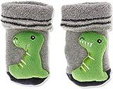 Sterntaler Jungen Baby-Rasselsöckchen Socken, Grau (Silber Mel 542), One Size (15/16)