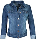 dollhouse Women's Basic Denim Jean Jacket, Size Large, Dark by dollhouse