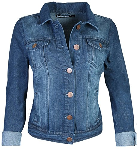 dollhouse Women?s Basic Denim Jean Jacket, Size Medium, Dark