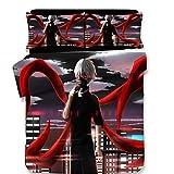 Parure De Lit 3D Tokyo Ghoul Japan Anime Parure De Lit avec Housse De Couette Et 2...