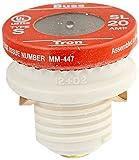 Bussmann SL-20PK4 20 Amp Time Delay Loaded Link Rejection Base Plug Fuse, 125V UL Listed, ...