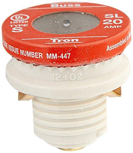 Bussmann SL-20PK4 20 Amp Time Delay Loaded Link Rejection Base Plug Fuse, 125V UL Listed, 4-Pack