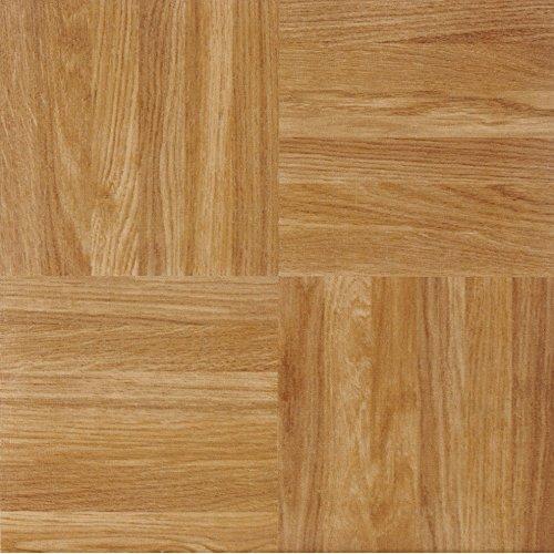 Achim Home Furnishings Achig FTVWD23220 Nexus Oak Parquet, 12 Inch x 12 Inch, Self Adhesive Vinyl Floor 232, 20 Tiles, Count
