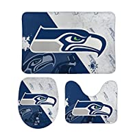 Perfectly express your support for your favorite football team. Coral velvet floor mats. Rectangular floor mat + U-shaped mat + O-shaped cover mat Absorbent, non-slip, durable. Convenient storage, can be rolled up and placed in the corner when not in...