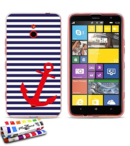 Carcasa Flexible Ultra-Slim NOKIA LUMIA 1320 de exclusivo motivo [Marinero azul y...