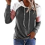 N\P Suéter de manga larga con capucha de las mujeres sueltas del color del bloque del color del contraste de la señora