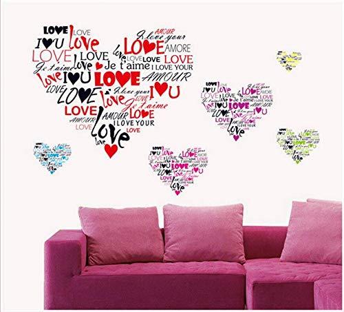 La protección del medio ambiente se puede quitar Te amo amor dormitorio sala de estar sala de bodas fondo festivo etiqueta de la pared pintura 50 * 70 CM