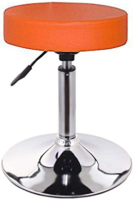 Duracomf Revolving Doctor Stool for Home Office Kitchen Use (Orange)