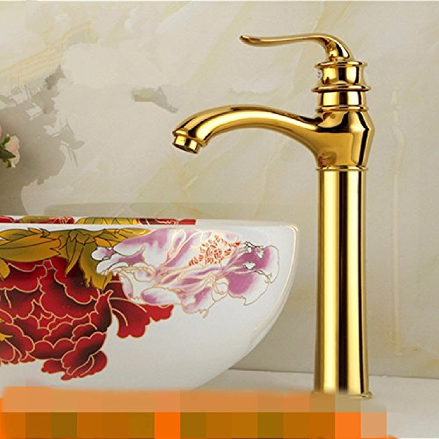 LHbox Basin Mixer Tap Bathroom Sink Faucet Antique copper faucet full continental basin cold water Single Hole