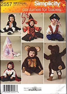 Simplicity Pattern 2557 Baby Halloween Costumes